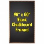 "36"" x 60"" Wood Framed Black Chalkboard Sign"