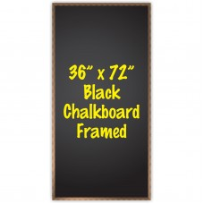 "36"" x 72"" Wood Framed Black Chalkboard Sign"
