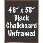 "48"" x 60"" Wood Framed Black Chalkboard Sign"
