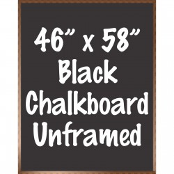 "46"" x 58"" Wood Framed Black Chalkboard Sign"