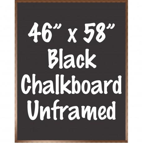 """48"""" x 60"""" Wood Framed Black Chalkboard Sign"""