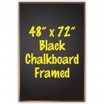 "48"" x 72"" Wood Framed Black Chalkboard Sign"