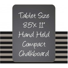 "8.5"" x 11"" Black Hand Held Chaklboard Sign"