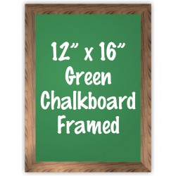 "12""x 16"" Wood Framed Green Chalkboard Sign"