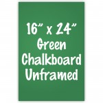 "16"" x 24"" Unframed Green Chalkboard Sign"