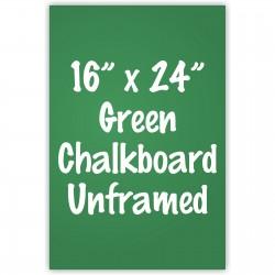 """16"""" x 24"""" Unframed Green Chalkboard Sign"""
