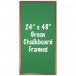 "24"" x 48"" Wood Framed Green Chalkboard Sign"