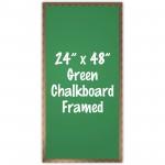 "24"" x 48"" Wood Framed Green Chalkboard Sign"
