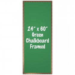 "24"" x 60"" Wood Framed Green Chalkboard Sign"
