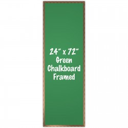 "24"" x 72"" Wood Framed Green Chalkboard Sign"