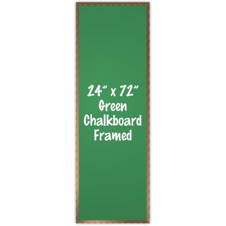 "24"" x 72"" Wood Framed Green Chalkboard Sign"