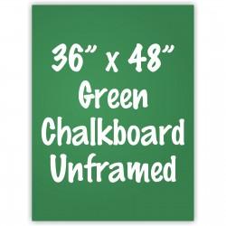 """36"""" x 48"""" Unframed Green Chalkboard Sign"""
