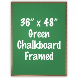 "36"" x 48"" Wood Framed Green Chalkboard Sign"