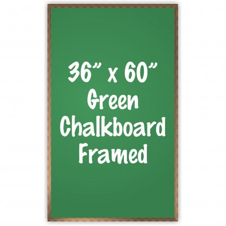 "36"" x 60"" Wood Framed Green Chalkboard Sign"
