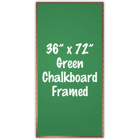 "36"" x 72"" Wood Framed Green Chalkboard Sign"