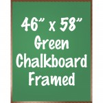 "46"" x 58"" Wood Framed Green Chalkboard Sign"