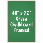 "48"" x 72"" Wood Framed Green Chalkboard Sign"