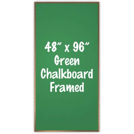 "48"" x 96"" Wood Framed Green Chalkboard Sign"