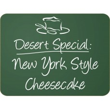 "6 Pack 12""x 16"" Frameless Green Chalkboard"
