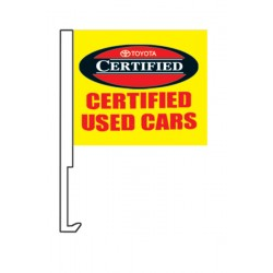 "Toyota Certified Used Cars 12"" x 15"" Car Window Flag"