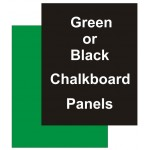 "24"" x 24"" Chalkboard Black Replacement Panel"