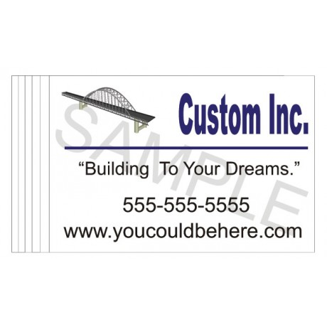 Construction Company Job Site Banners-6 Pk