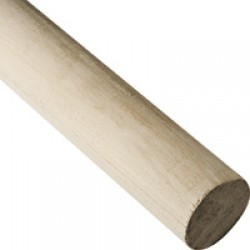 "5/8"" Poplar Wood 2' Banner Pole"