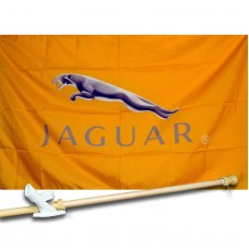 Jaguar 3' x 5' Flag, Pole and Mount