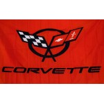 Corvette Red 3' x 5' Polyester Flag