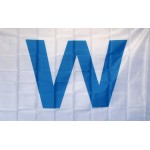 Wrigley Field Light Blue W 3' x 5' Polyester Flag