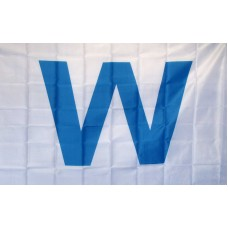 Wrigley Field Light Blue W 3' x 5' Flag