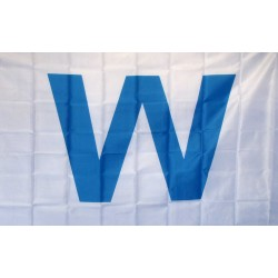 Wrigley Field Light Blue W 3' x 5' Polyester Flag