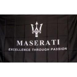 Maserati Black 3' x 5' Polyester Flag