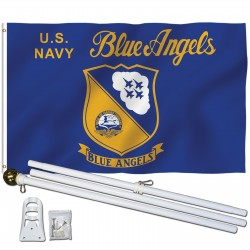 Navy Blue Angels 3' x 5' Polyester Flag, Pole and Mount