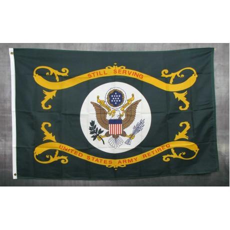 Army Retired 3'x 5' Nylon Flag