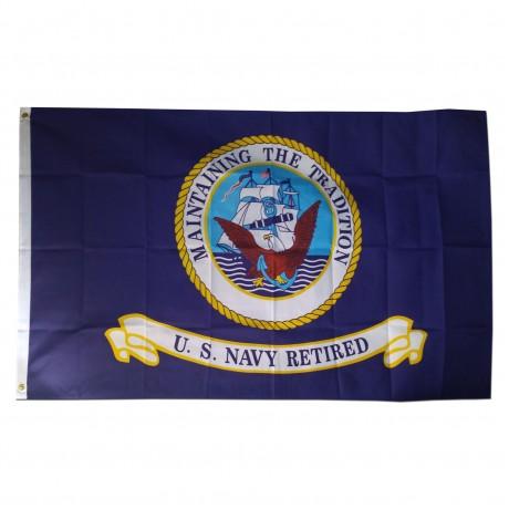 Navy Retired 3'x 5' Economy Flag