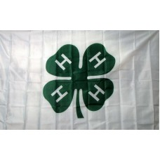 4 H Club 3'x 5' Flag