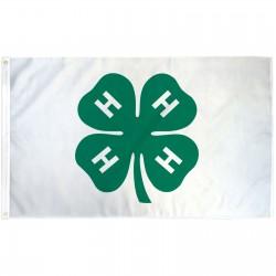 4 H Club 3' x 5' Polyester Flag