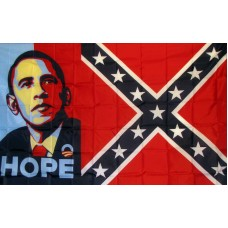 Obama Hope Rebel 3'x 5' Flag