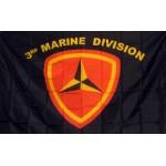 Marine 3rd Division 3'x 5' Flag