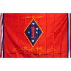 Marines 1st Division 3'x 5' Economy Flag