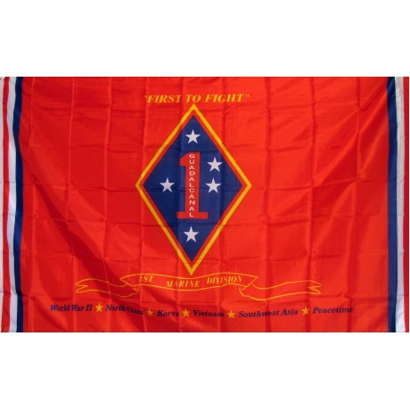 Marine 1st Division 3'x 5' Flag