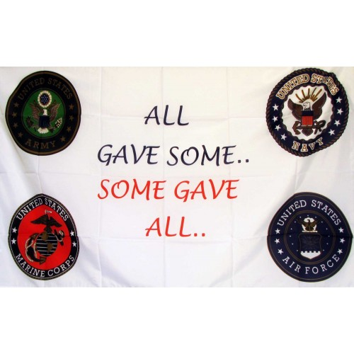 All Gave Some Some Gave All 3'x 5' Economy Flag (F-1084