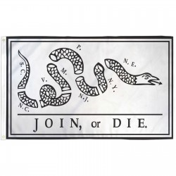 Join Or Die Rattlesnake 3' x 5' Polyester Flag