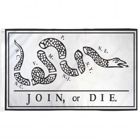 Join Or Die Rattlesnake 3' x 5' Polyester Flag