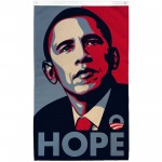 Obama Hope Vertical 3'x 5' Flag