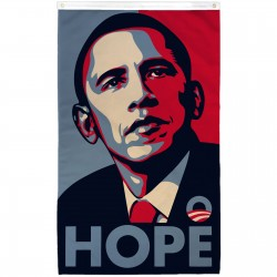 Obama Hope Vertical 3' x 5' Polyester Flag