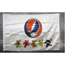 Grateful Dead Dancing Bears 3' x 5' Polyester Flag