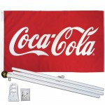 Coca-Cola 3' x 5' Polyester Flag, Pole and Mount