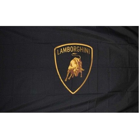 Lamborghini Black 3' x 5' Polyester Flag